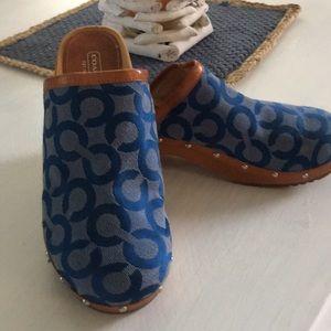 Coach Shoes Joy Blue size 8 slip on Clogs Mules